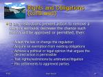 rights and obligations continued24