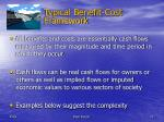 typical benefit cost framework