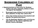shoshone children at play