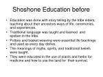 shoshone education before