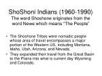 shoshoni indians 1960 1990 the word shoshone originates from the word newe which means the people