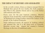 the impact of history and geography1