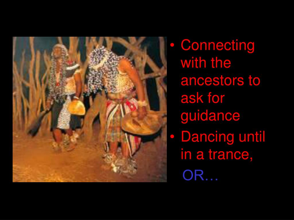 Connecting with the ancestors to ask for guidance