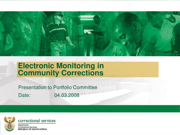 Electronic Monitoring in Community Corrections