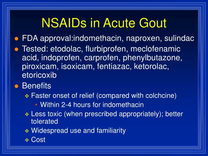 NSAIDs in Acute Gout