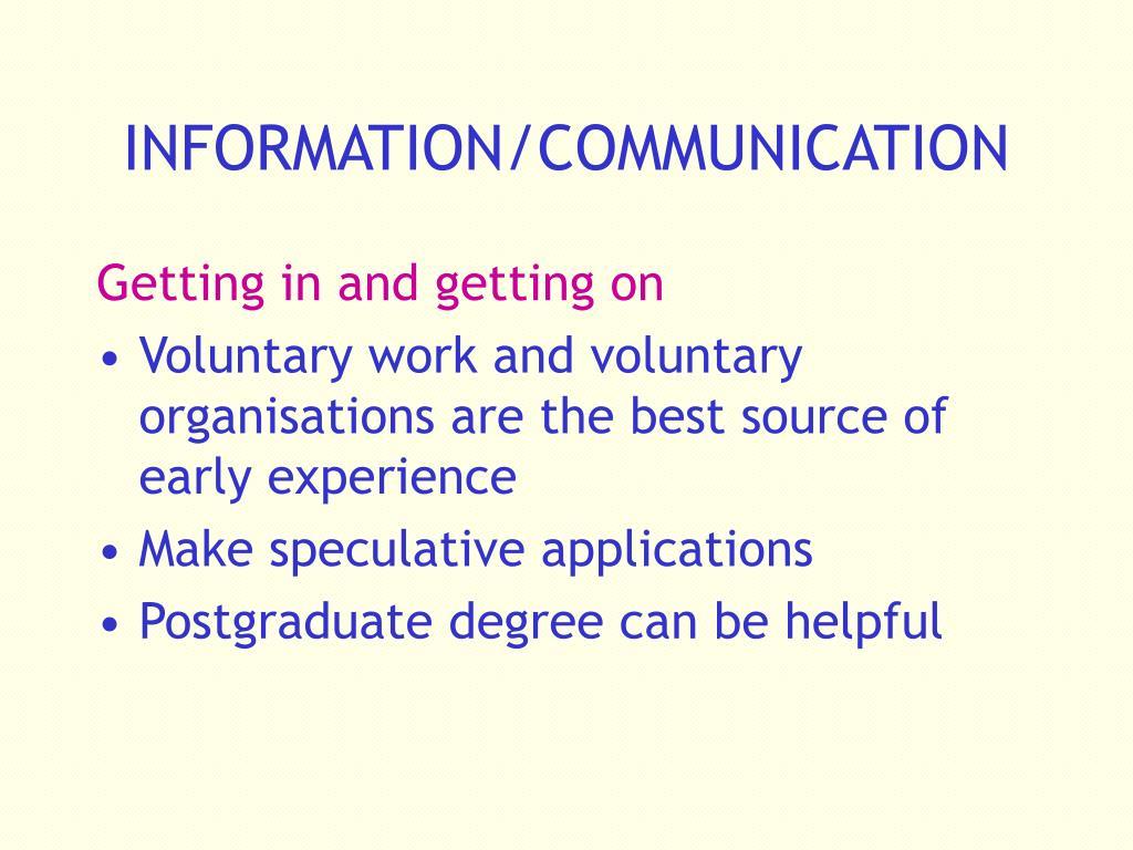 INFORMATION/COMMUNICATION