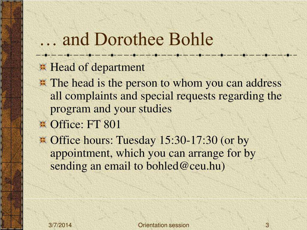 … and Dorothee Bohle