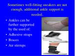 sometimes well fitting sneakers are not enough additional ankle support is needed