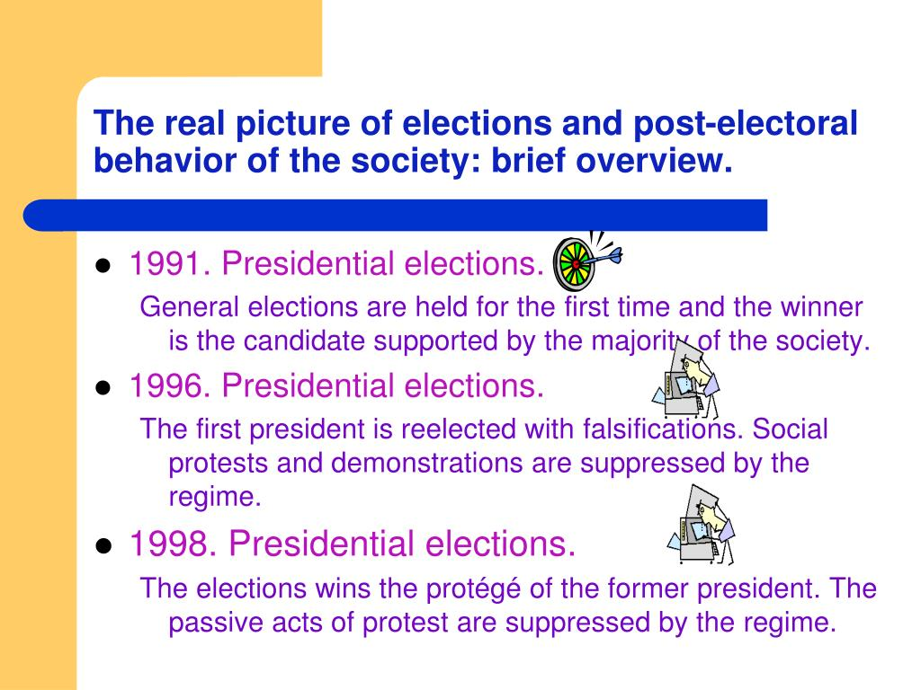 The real picture of elections and post-