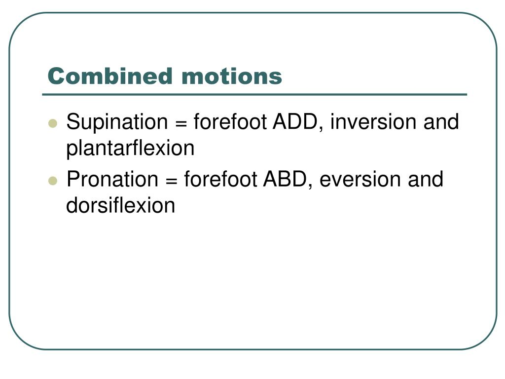 Combined motions