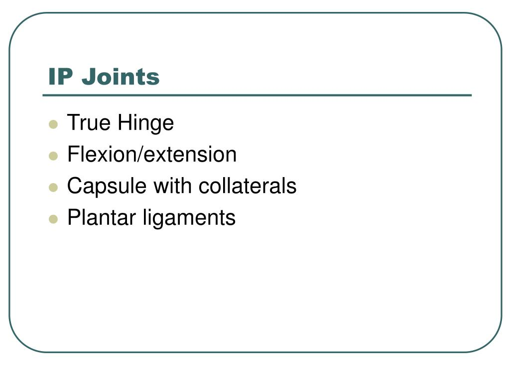 IP Joints