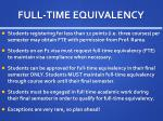 full time equivalency