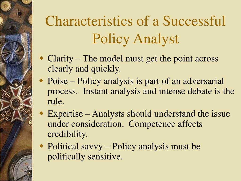 Characteristics of a Successful Policy Analyst