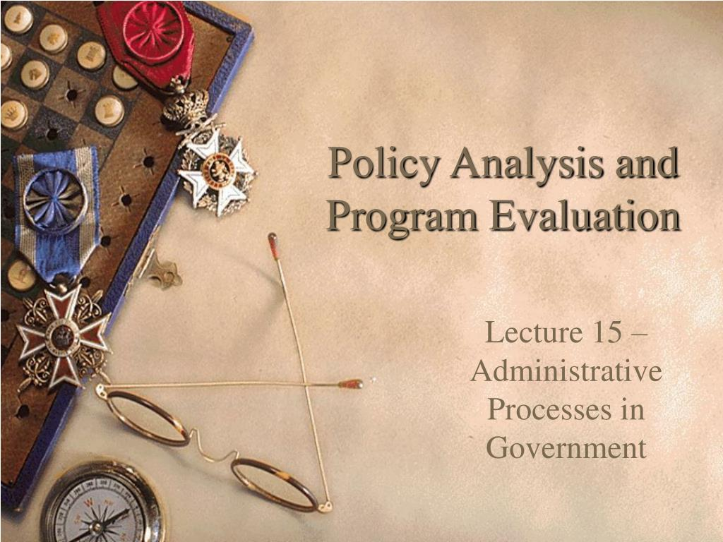 policy analysis and program evaluation l.