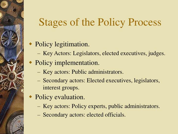 Stages of the policy process3