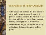 the politics of policy analysis21