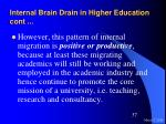 internal brain drain in higher education cont37