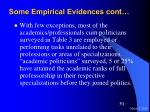 some empirical evidences cont30