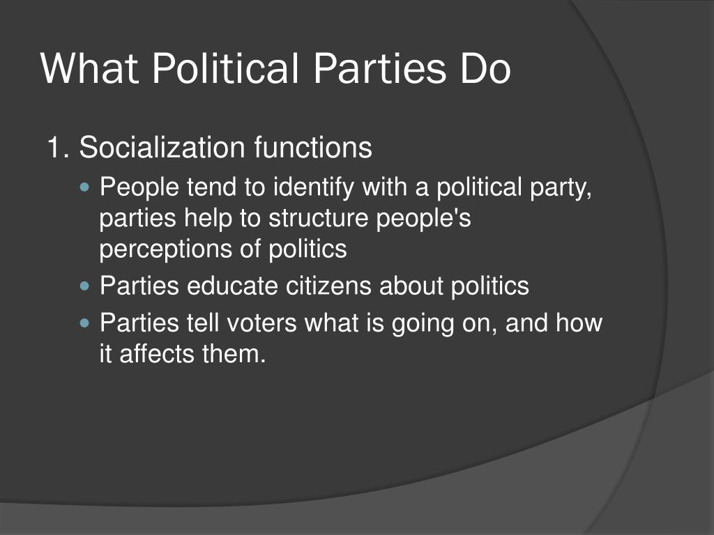 What Political Parties Do