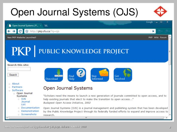 Open journal systems ojs