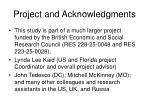 project and acknowledgments