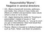responsibility blame negative in several directions