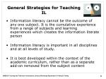 general strategies for teaching il1