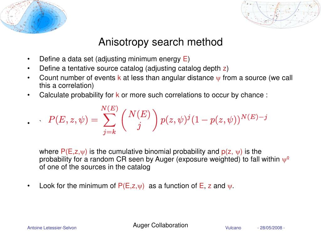 Anisotropy search method