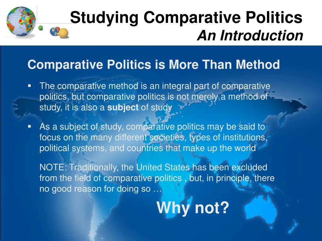 Studying Comparative Politics