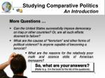 studying comparative politics an introduction4