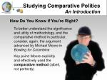 studying comparative politics an introduction8