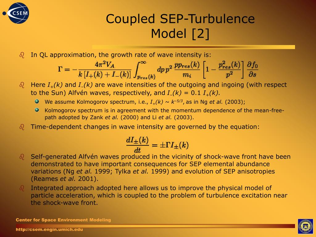 Coupled SEP-Turbulence Model [2]