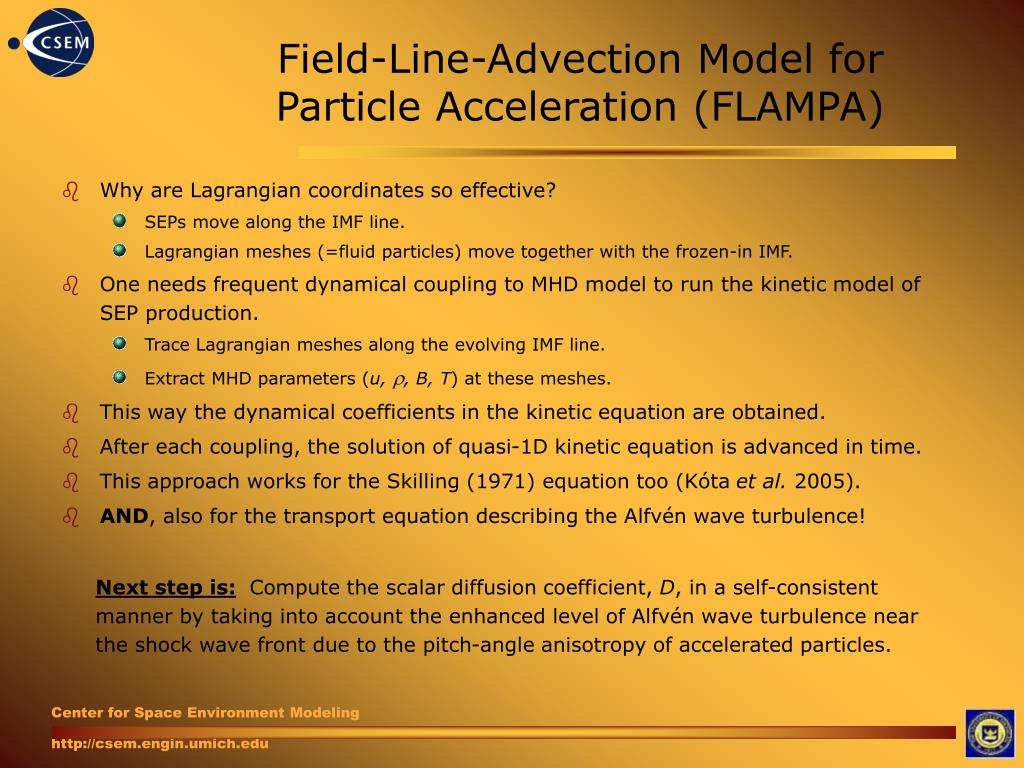 Field-Line-Advection Model for Particle Acceleration (FLAMPA)