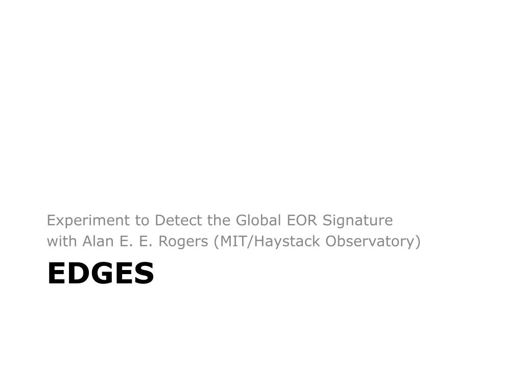 Experiment to Detect the Global EOR Signature