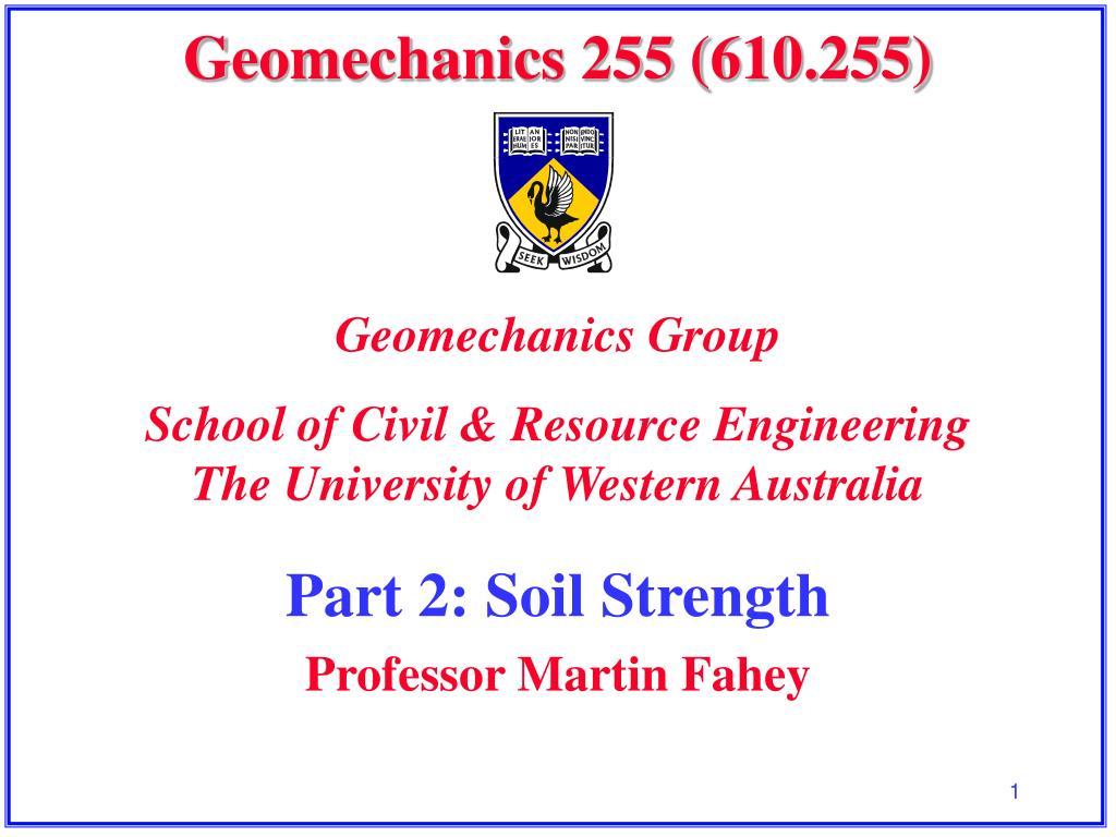 geomechanics 255 610 255 l.