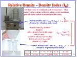 relative density density index i d