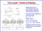 saw tooth model of dilation
