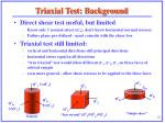 triaxial test background