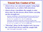 triaxial test conduct of test