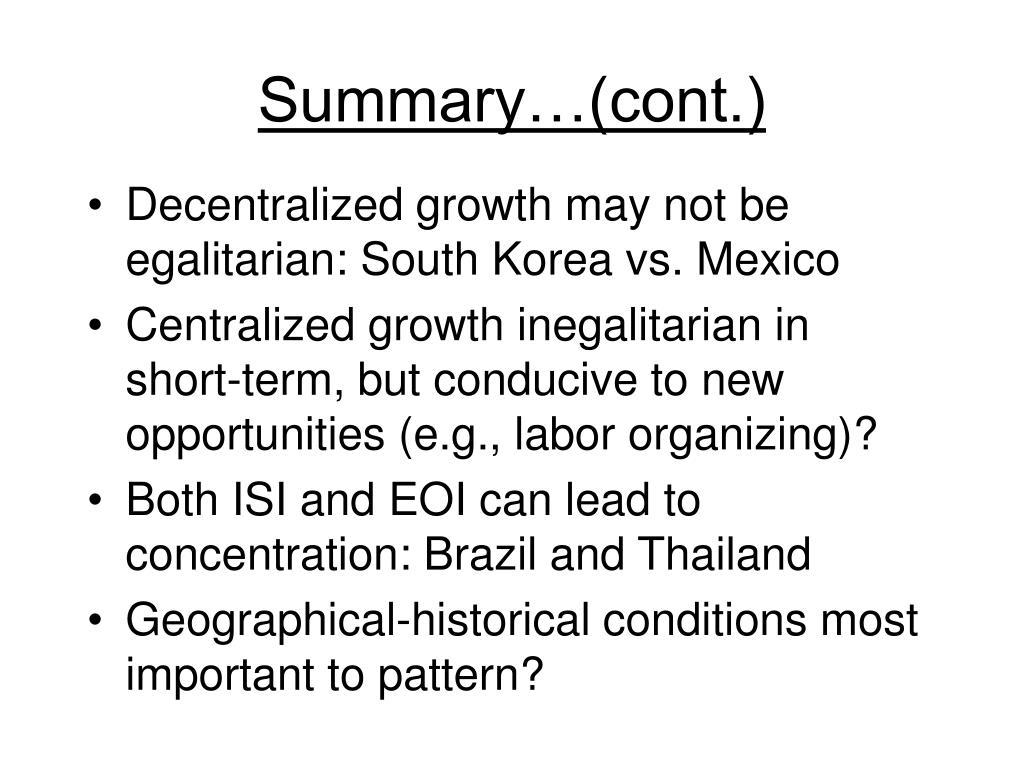 Summary…(cont.)