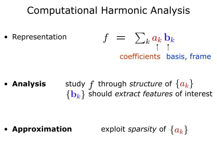 Computational harmonic analysis
