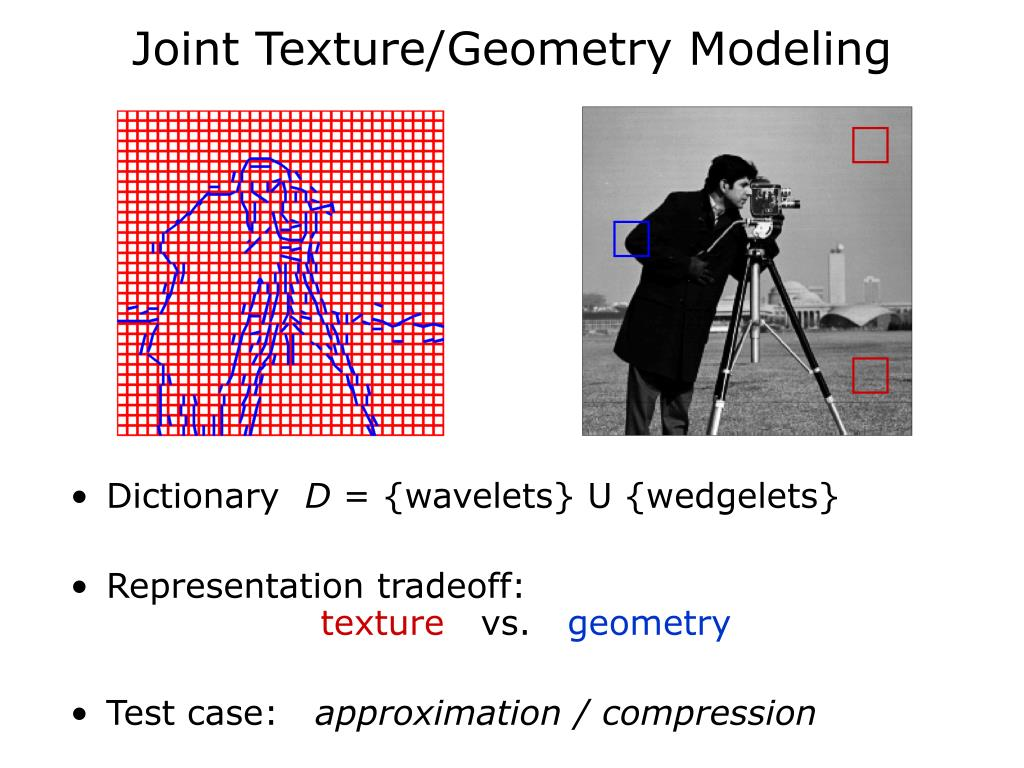 Joint Texture/Geometry Modeling