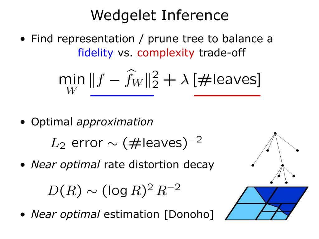 Wedgelet Inference