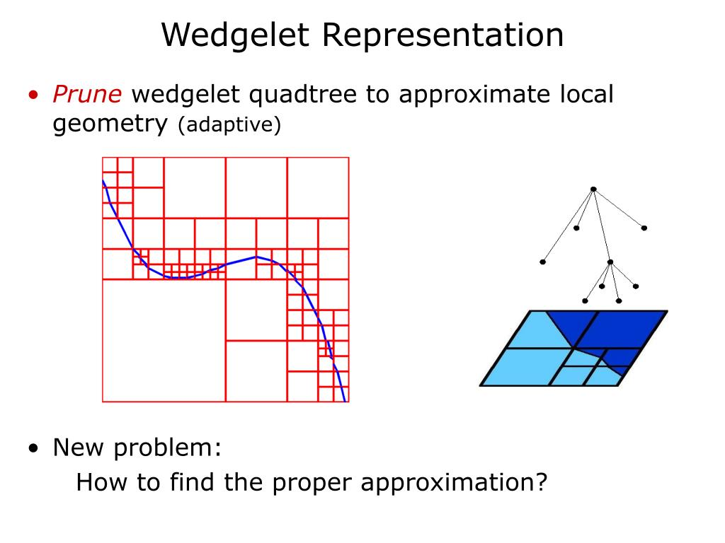 Wedgelet Representation