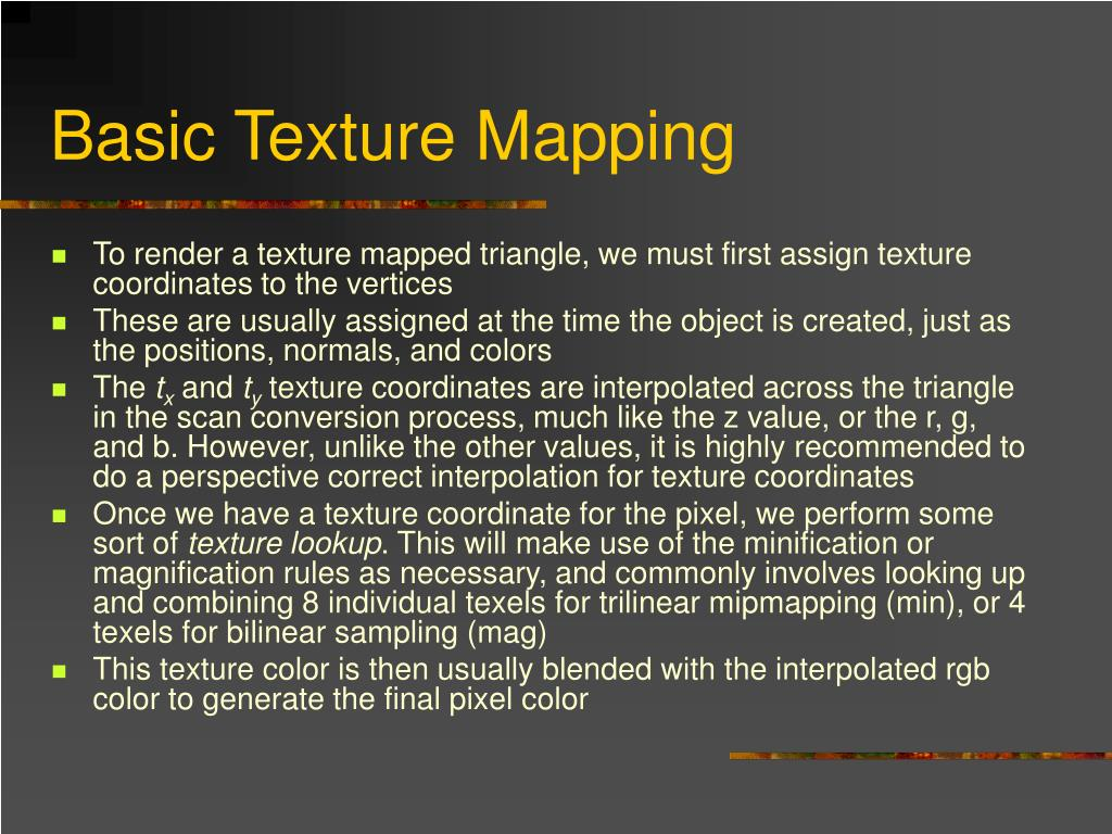 Basic Texture Mapping
