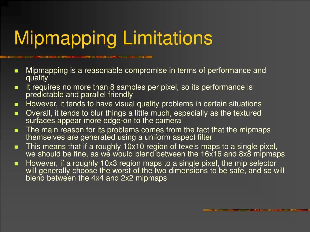 Mipmapping Limitations