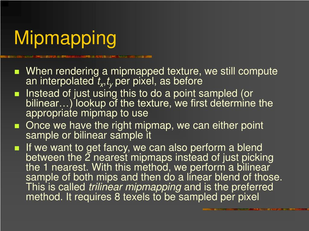 Mipmapping
