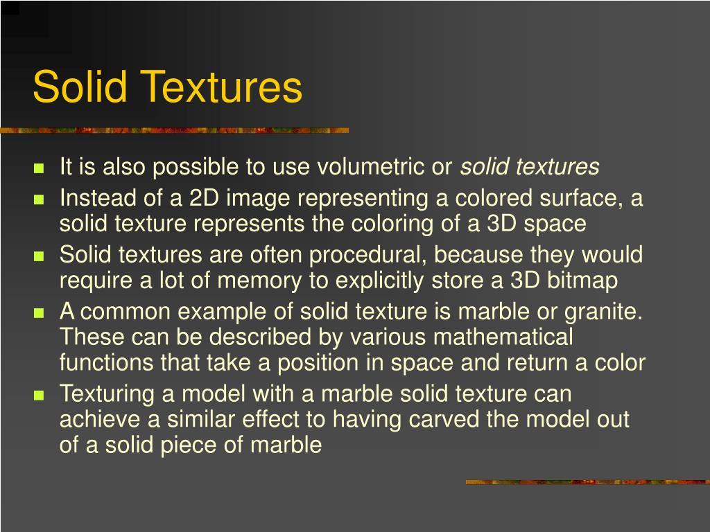Solid Textures