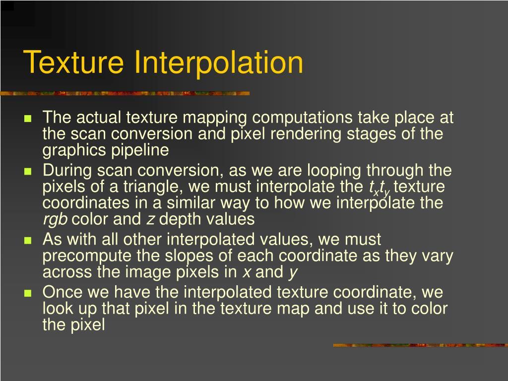 Texture Interpolation