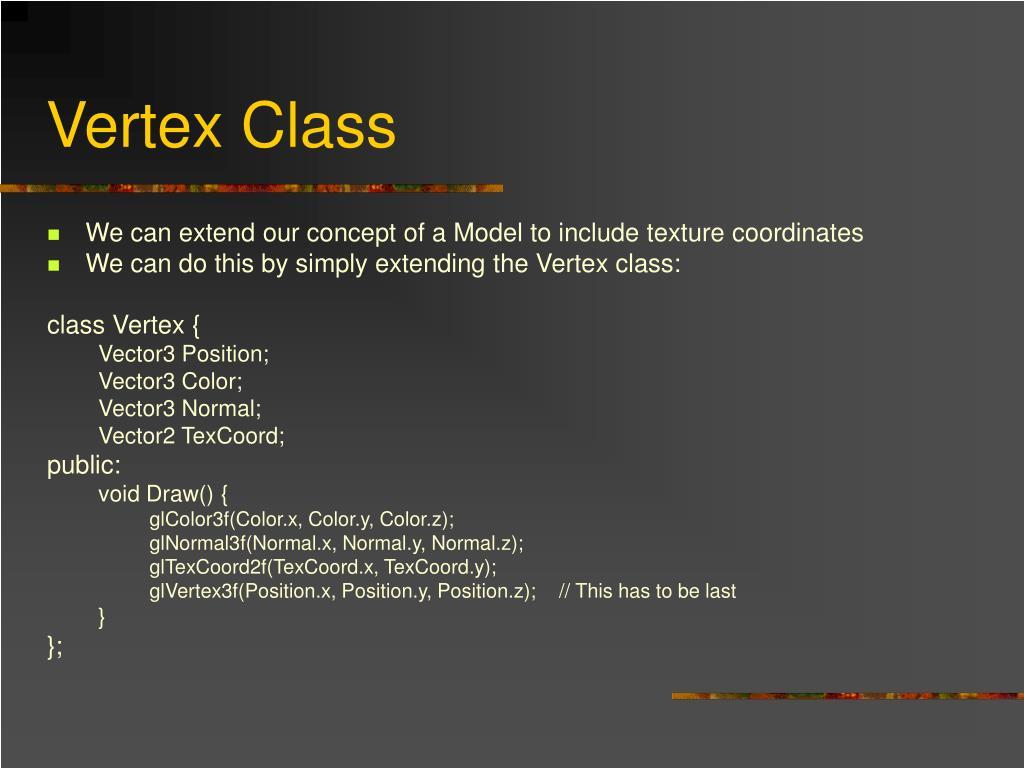 Vertex Class